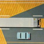 DRIVE CAREFULLY AROUND LARGE TRUCKS